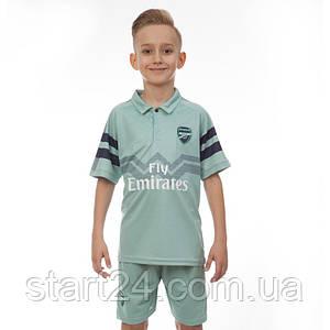 Комплект футбольної форми (футболка, шорти і гетри) SP-Sport ARSENAL CO-7291-ETM1808-BL (форма р-р 22-24 8-10