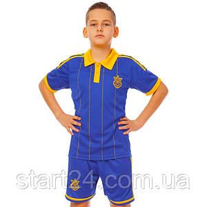 Комплект футбольной формы (футболка, шорты и гетры) SP-Sport УКРАИНА CO-3900-UKR-14Y-ETM1720 (форма р-р XS-M,