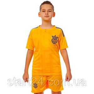 Комплект футбольной формы (футболка, шорты и гетры) SP-Sport УКРАИНА CO-3900-UKR-16B-ETM1721 (форма р-р XS-M,