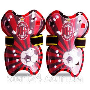 Щитки футбольные детские Клубные 627 (пластик, цвета в ассортименте)