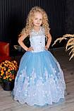 Длинное нарядное платье Кружево на 5-6 лет, фото 2