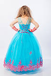Длинное нарядное платье Кружево на 5-6 лет, фото 6