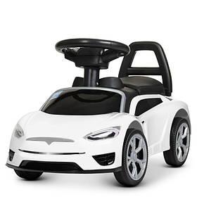 Толокар автомобиль для прогулок.,муз, свет,на бат.,68-30-36 см,белый