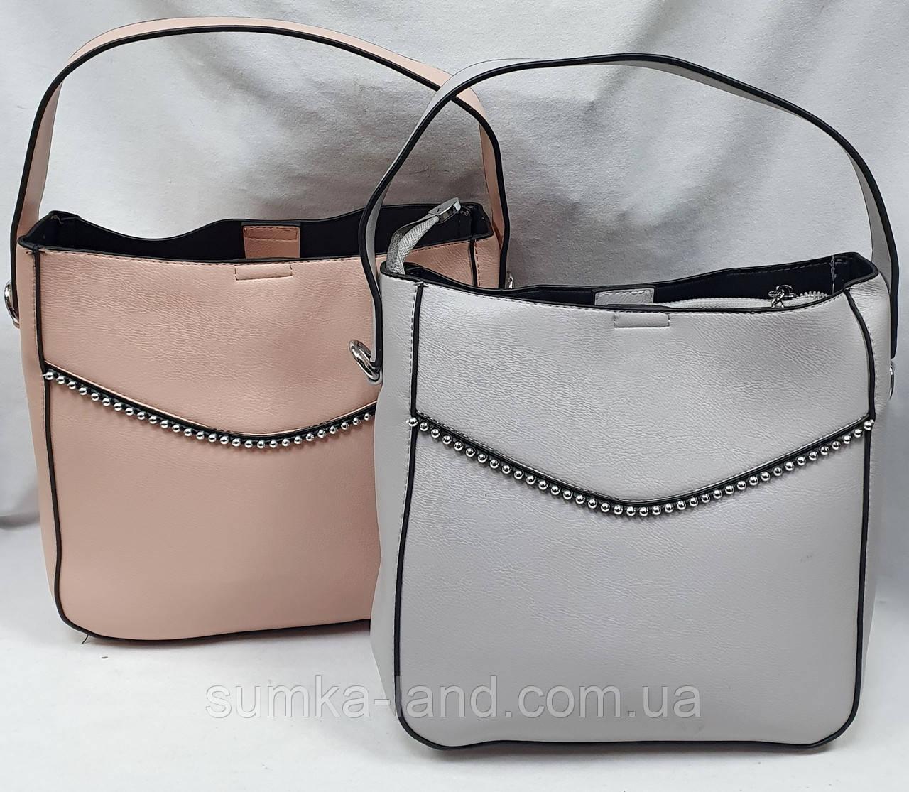 Женские молодежные сумки на 3 отделения 24*25 см