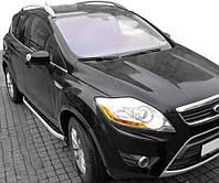 Ford Kuga 2008-2013 гг. Боковые пороги Fullmond (2 шт, алюм.)