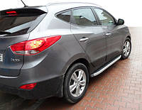 Hyundai IX-35 2010-2015 гг. Боковые пороги Fullmond (2 шт, алюм.)