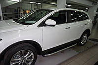 Mazda CX-9 2007-2016 гг. Боковые пороги Fullmond (2 шт, алюм.)