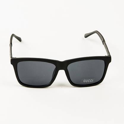 Оптом брендові сонцезахисні окуляри Gucci (репліка) - Чорні - 2011, фото 2