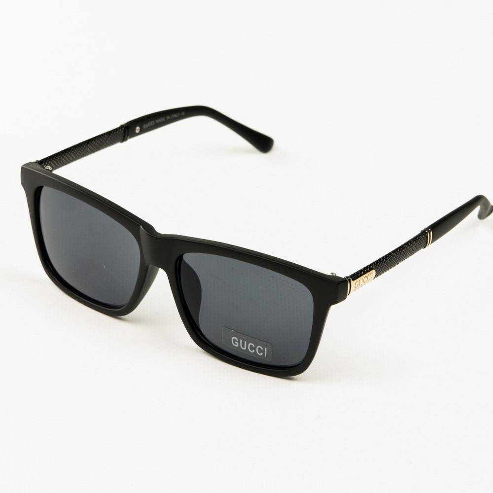 Оптом брендові сонцезахисні окуляри Gucci (репліка) - Чорні - 2011