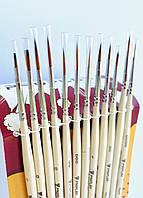 Кисточки для рисования набор кистей 12 шт синтетика Art Planet