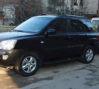 Kia Sportage 2004-2010 гг. Боковые пластиковые площадки o304 (пластик)