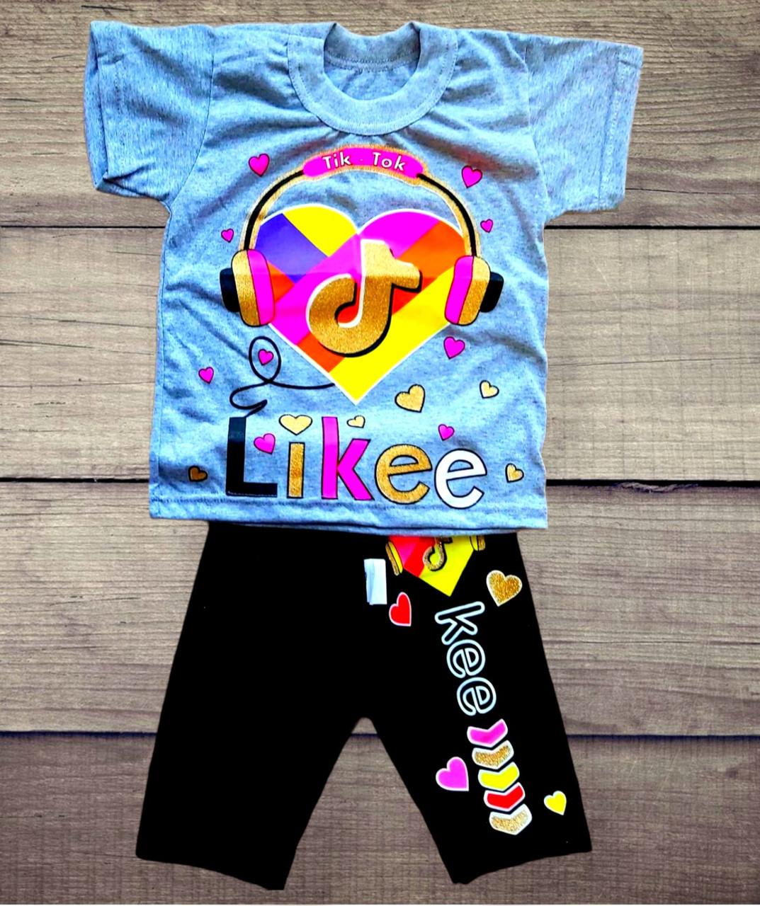 """Костюм детский футболка и трессы""""#LIKEE & #Tik Tok"""""""