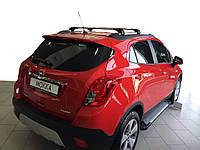 Opel Mokka 2012↗ гг. Боковые пороги Allmond Grey (2 шт., алюминий)
