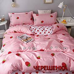 """Полуторный набор постельного белья 150*220 из Бязи """"Gold"""" №151244AB Черешенка™"""
