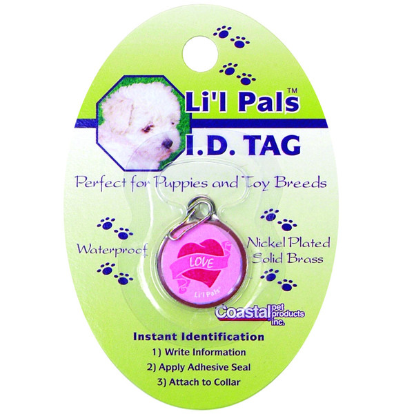 """Coastal Lit """"l Pals ID Tag брелок для адреси для собак і котів"""