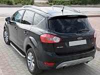 Ford Kuga 2008-2013 гг. Боковые пороги BlackLine (2 шт, алюминий)