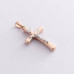 Золотой крест с распятием п01624