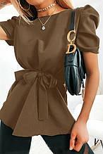 """Женская  блуза с короткими рукавами фонарик """"Betty""""В И"""