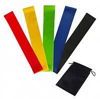 Набор резинок для фитнеса Резинки для приседаний и тренировок Luting 5 шт с разной эластичностью в мешочке