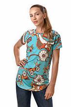 Женская футболка с принтом вискозная БОЛЬШЫЕ РАЗМЕРЫ