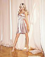 Сексуальное платье атласное на тонких бретельках, на груди чашка, 00848 (Бежевый), Размер 44 (M), фото 2