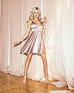 Сексуальное платье атласное на тонких бретельках, на груди чашка, 00848 (Бежевый), Размер 44 (M), фото 3
