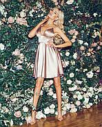 Сексуальное платье атласное на тонких бретельках, на груди чашка, 00848 (Бежевый), Размер 44 (M), фото 4