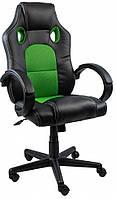 Кресло компьютерное игровое геймерское офисное с подголовником и подлокотником до 120 кг из кожзама
