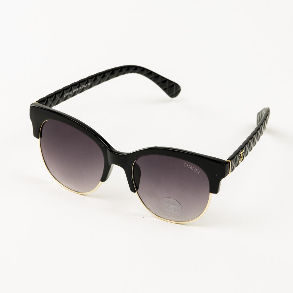 Оптом брендові окуляри сонцезахисні жіночі Chanel - Чорні - 2846/1