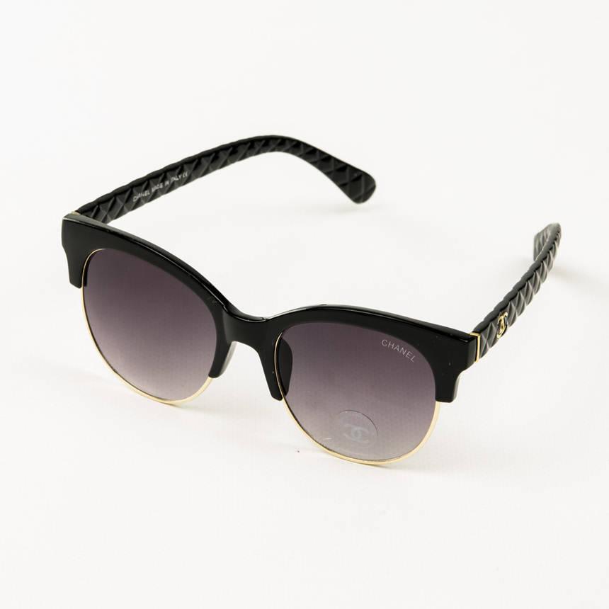 Оптом брендові окуляри сонцезахисні жіночі Chanel - Чорні - 2846/1, фото 2