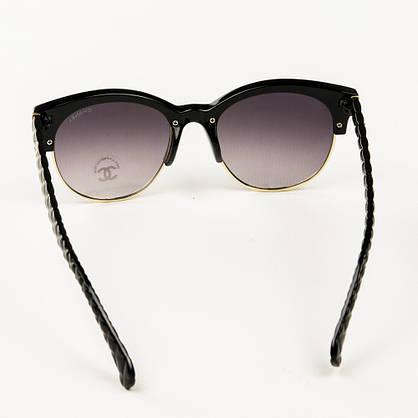 Оптом брендові окуляри сонцезахисні жіночі Chanel - Чорні - 2846/1, фото 3