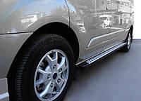 Ford Connect 2002-2006 гг. Боковые пороги DOT-Line (2 шт., алюм.) Стандартная база