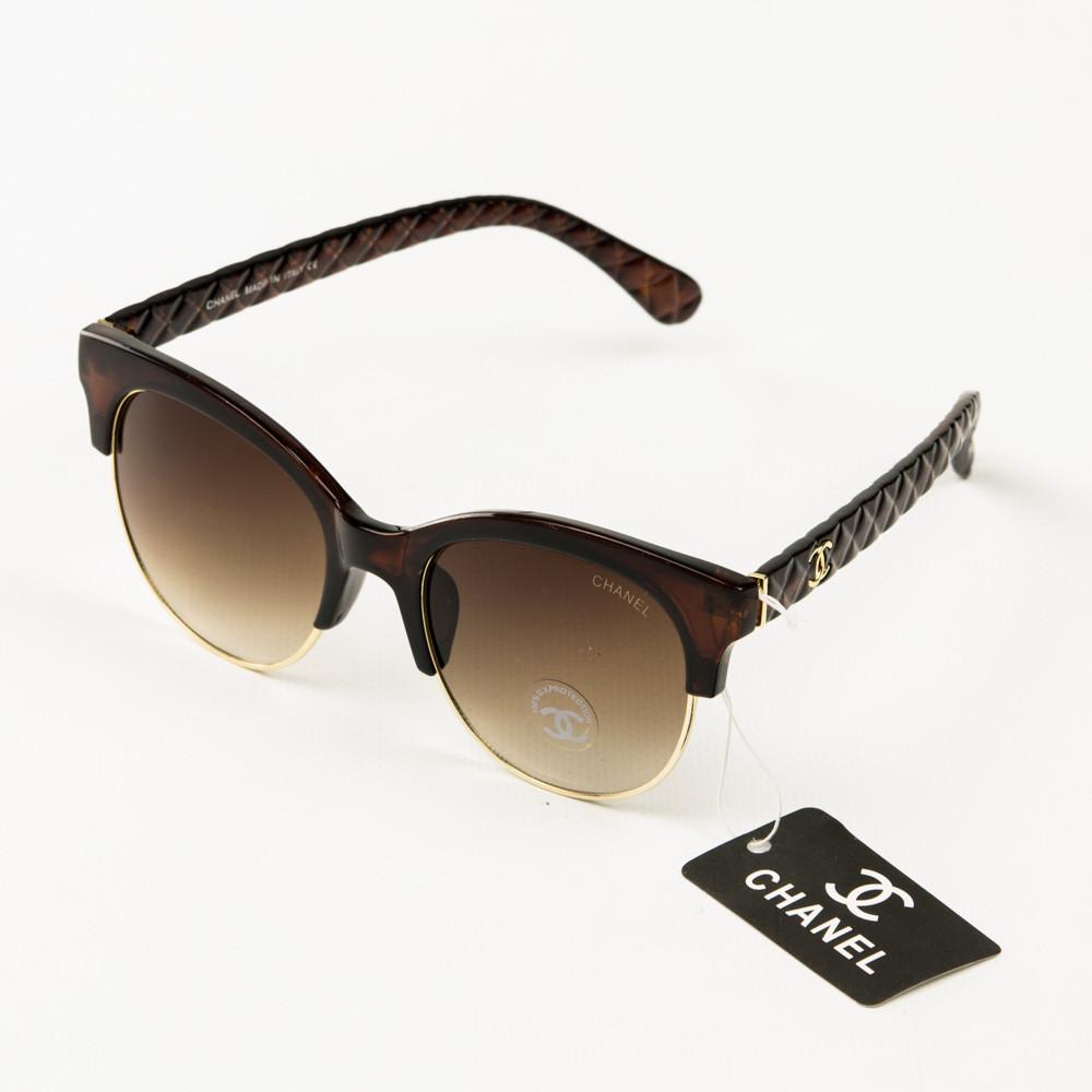 Оптом брендові окуляри сонцезахисні жіночі Chanel - Коричневі - 2846/2