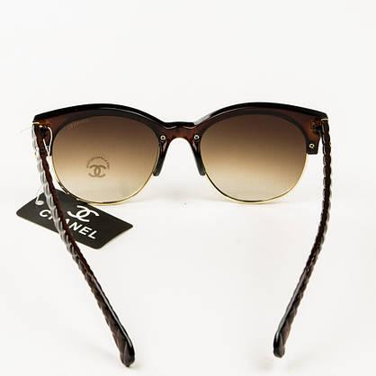 Оптом брендові окуляри сонцезахисні жіночі Chanel - Коричневі - 2846/2, фото 3