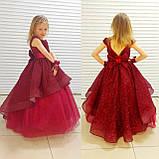 Платье Елочка Длинное нарядное изумрудное платье Бетси, фото 4
