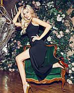 Романтичное женское платье длина миди на тонких бретельках, 00842 (Черный), Размер 44 (M), фото 5