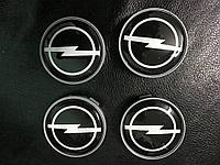 Opel Mokka 2012↗ гг. Колпачки в титановые диски V2 (4 шт) 55,5 мм