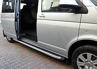 Volkswagen T4 Caravelle/Multivan Боковые пороги Fullmond (2 шт, алюм) Короткая база