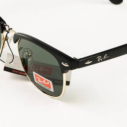 Оптом солнцезащитные очки Рей Бен Клабмастер унисекс со стеклянной линзой - 3016-2, фото 3