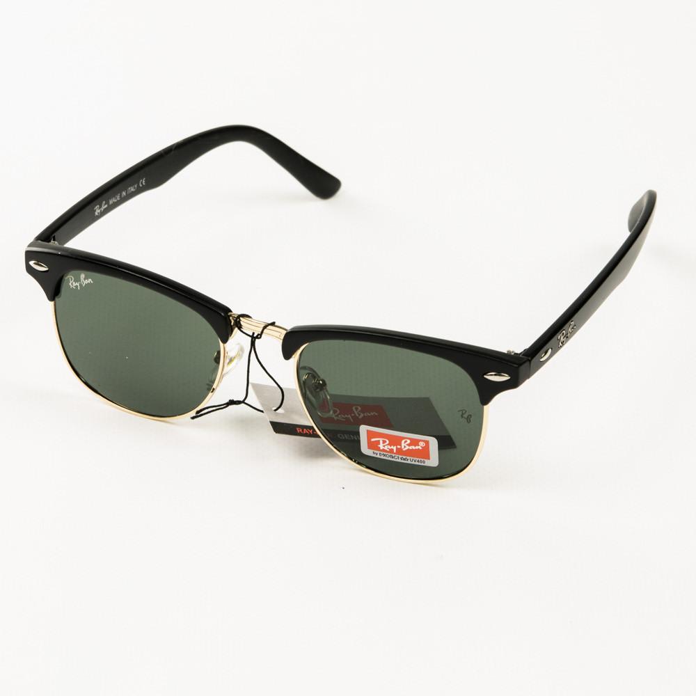 Оптом солнцезащитные очки Рей Бен Клабмастер унисекс со стеклянной линзой - 3016-2