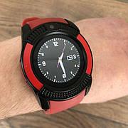 Смарт часы Smart Watch V8 мужские круглые смарт часы с сим картой камерой смарт вотч в8 часи красные