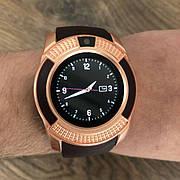 Смарт часы Smart Watch V8 мужские круглые смарт часы с сим картой камерой смарт вотч в8 часи золотые