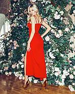 Жіноче плаття завдовжки міді з імітацією запаху, 00840 (Червоний), Розмір 44 (M), фото 4
