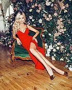 Жіноче плаття завдовжки міді з імітацією запаху, 00840 (Червоний), Розмір 44 (M), фото 5