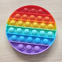 Антистресс Pop It разноцветный круглый, фото 1