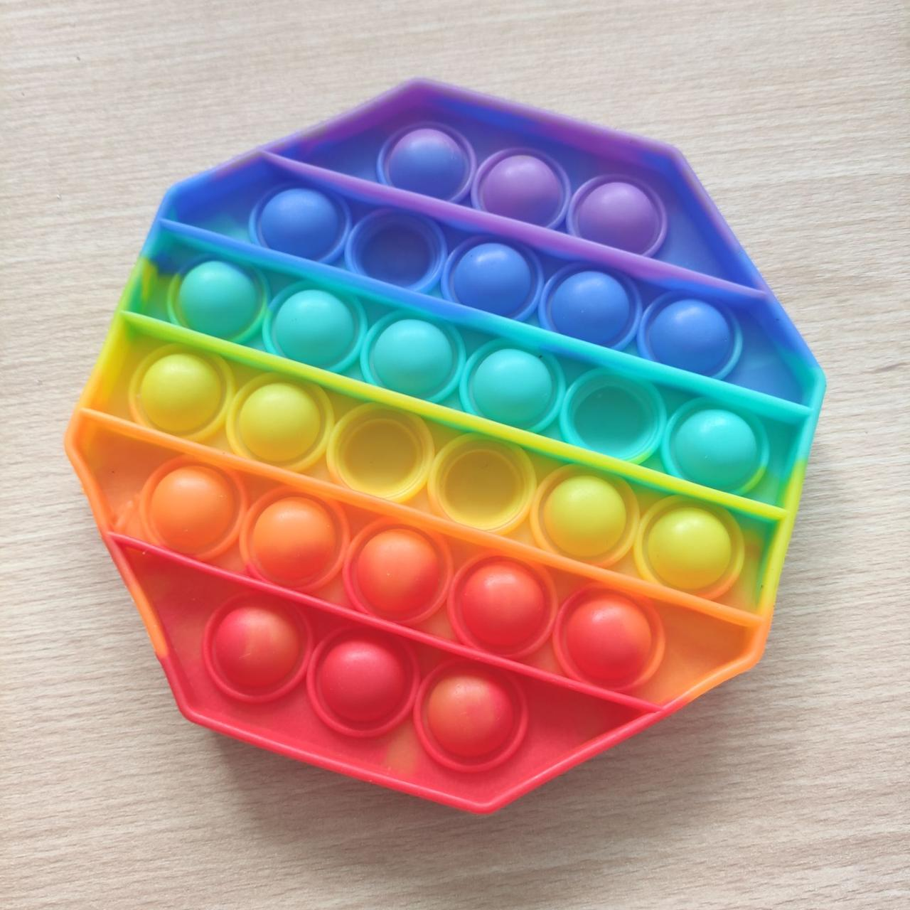 Антистресс Pop It разноцветный восьмиугольный