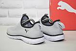 Чоловічі легкі кросівки сітка без шнурків підошві в стилі Puma, фото 3