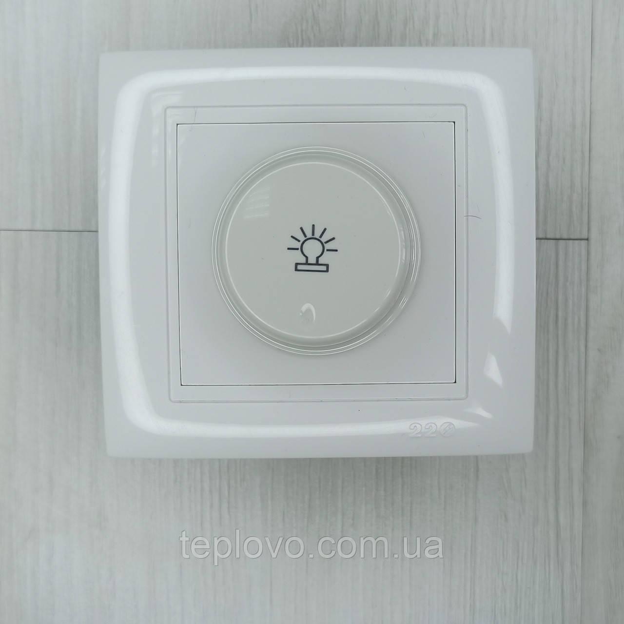Диммер (реостат) универсальный белый, 500 Вт, светорегулятор