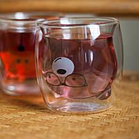 Стакан с двойным дном с мишкой 250 мл 1 шт Ardesto (AR2625GA), стаканы с двойным дном
