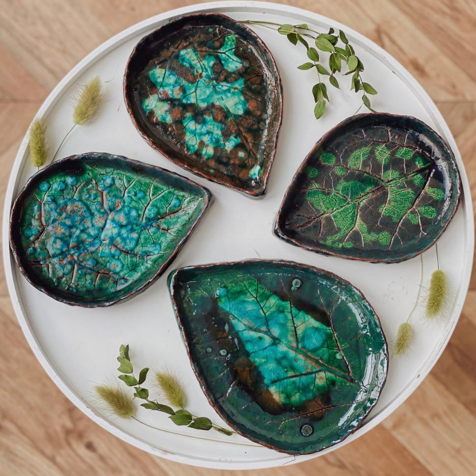Керамическая тарелка Leaf